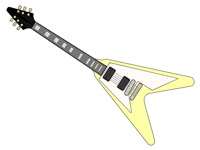 Description: Macintosh HD:Users:rodneypilois:Desktop:Yellow guitar images:cartoon_2_yellow guitar.png